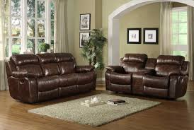 Recliners Sofa Sets Sofa Italian Leather Reclining Sofa Set Black Bonded Leather