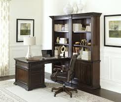 Partner Desk Home Office Grand Classic Peninsula Desk With Bookcases Partner Desk Computer
