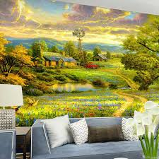online get cheap landscape wall murals aliexpress com alibaba group american style photo mural embossed 3d landscape wall mural wall covering murals for living room wallpaper