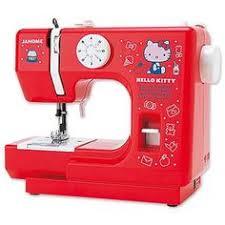 hellokittysewingmachine janome kitty compact white sewing