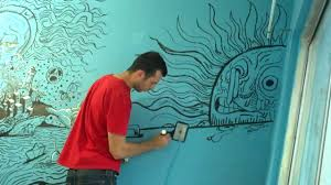 painting a wall how to paint a wall mural wall shelves