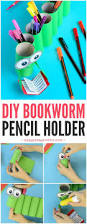 diy bookworm paper roll pencil holder pencil holder craft and
