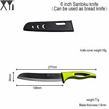 online shop 6 inch black blade santoku ceramic knife with one