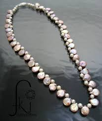 necklace pearl pink images Pearl necklace quot paddle quot pearls pink pearls with white potato jpg