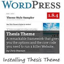 Install Thesis Theme