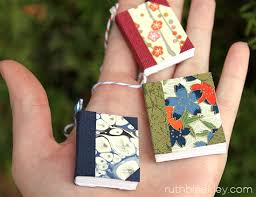 tiny books to use to make napkin rings or what handful of
