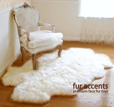 Faux Fur Throw Rugs Fur Accents Quattro Area Carpet Throw Rug Plush Sheepskin