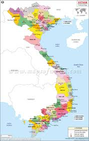 Political Map Washington State by Political Map Of Vietnam Vietnam Provinces Map