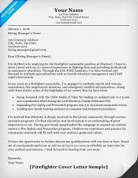 firefighter cover letter sample u0026 writing tips resume companion