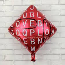 balloon wholesale xxpwj letter square aluminum foil balloon birthday party balloon