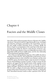 fascism and the middle classes springer