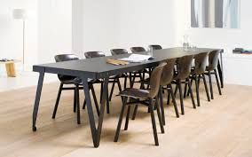 Designer Dining Tables Contemporary Dining Table Lacquered Metal Rectangular For