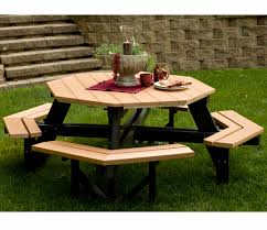 Amish Patio Furniture Berlin Gardens Octagon Picnic Table