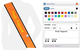 pride pageant personalized sashes for all occasions custom sashes