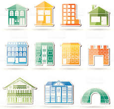 different kinds of houses and buildings stock vector art 164006133