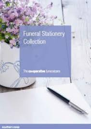 funeral stationery funeral stationery the co operative funeralcare