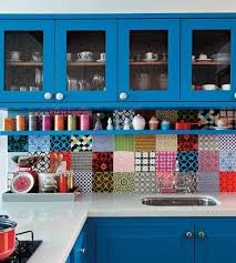 colorful kitchens ideas colourful back splash kitchen ideas bright tiles and colourful