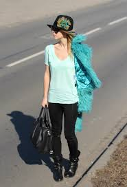 minty outfit boohoo in coats zara in t shirts fashion style