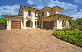 house style architecture modern ranch italian house with stone fence idea