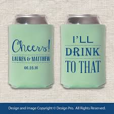 wedding koozie ideas 12 best practical wedding giveaways images on wedding