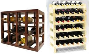 Small Wood Shelf Plans by Kitchen Stylish Stackable Wine Racks Roselawnlutheran Rack Ideas