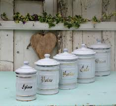 french enamelware french enamel kitchen canisters french