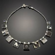 handmade chain necklace images Exhibit women working words at fac r jewelry art gallery seattle jpg