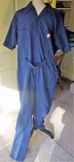 mens blue jumpsuit wall s vtg s mechanic coveralls jumpsuit one pc size 44 bright