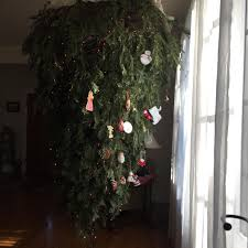 the care and hanging of an upside down christmas tree album on imgur