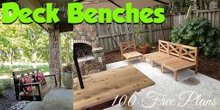 Cedar Deck Bench Deck Bench Plans Planspin Com Build With Free Plans