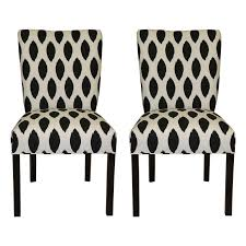Black And White Upholstered Chair Design Ideas New Black White Floral Fabric Upholstered Occasional Dining Chair