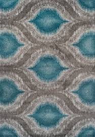Modern Rugs Direct by Modern Grey Teal Premium Polypropylene Rug Soft And Luxurious