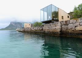 Contemporary Cabin Tiny Contemporary Cabins Hang Over The Sea In Manshausen Island