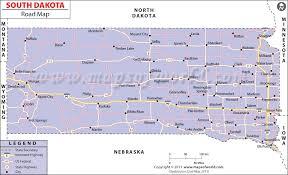 south dakota map with cities dakota road map