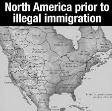 north america prior to illegal immigration map of native american