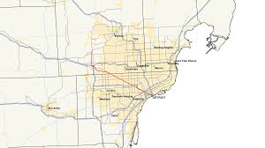 Metro Detroit Map by M 5 Michigan Highway Wikipedia