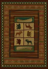 Pet Friendly Area Rugs Bedroom Rustic Cabin Lodge Area Rugs Place Bear Rug