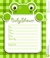 frog baby shower baby shower frog invitation card royalty free stock photo image