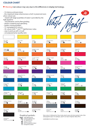 white nights watercolour chart watercolor color palettes