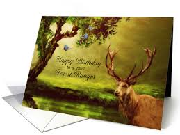 happy birthday to a great forest ranger forest deer card 1418842