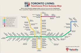 new map tracks toronto home prices by subway station