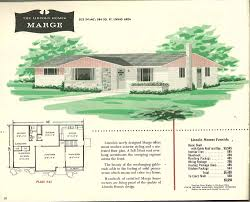 ranch house designs floor plans factory built houses 28 pages of lincoln homes from 1955 retro