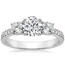 platinum pave rings images Platinum three stone round diamond pav trellis ring jpg