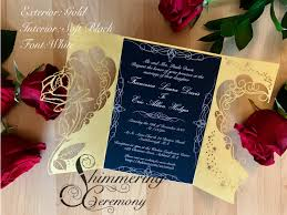 beauty and the beast wedding invitations beauty and the beast inspired gate invitation shimmering
