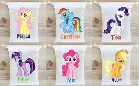 personalized goodie bags my pony favor bags party favors personalized party gift