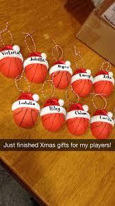 basketball ornaments for my third grade basketball team
