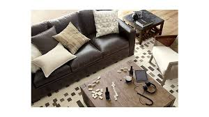 Queen Leather Sleeper Sofa Axis Ii Dark Brown Leather Queen Sleeper Sofa Crate And Barrel