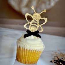 bumble bee cupcakes bumble bee cupcake topper 12ct ships in 1 3 business days to