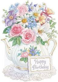 carol wilson christmas cards carol wilson stationery flowers in teapot birthday greeting card