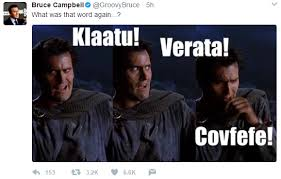 Evil Dead Meme - what was that word again covfefe know your meme